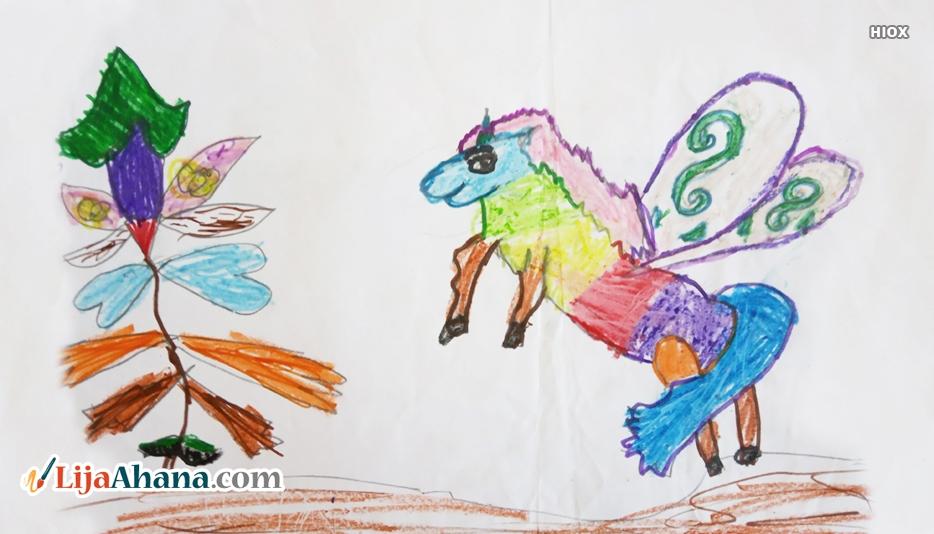 Angel Horse Kid Drawing