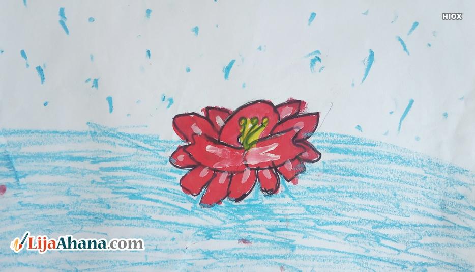 Lotus Flower Kid Drawing