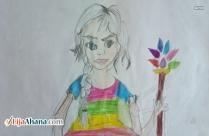 Beautiful Cute Girl Drawing