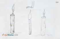 Easy Candle Pencil Drawing