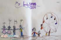 Happy Family Kids Drawing