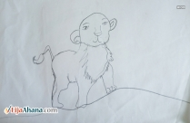 Lion Kid Pencil Drawing