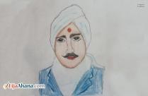 Mahakavi Bharathiyar Kid Drawing